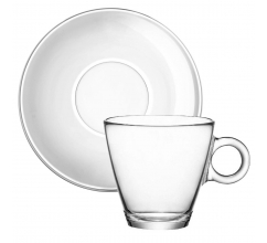 Easy Bar Cappuccino 230 ml. Gehard glas bedrukken